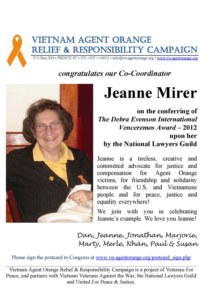 Jeanne Mirer at NLG 2012