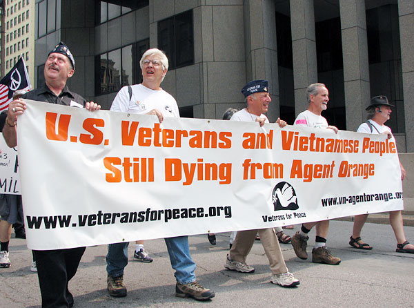 Veterans for Peace Marches on Agent Orange